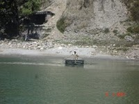 Crossing the Beas River via Boat at Harsipatan